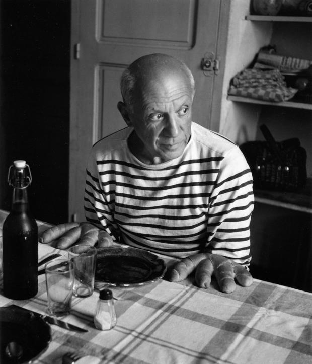 Picasso fotografiado por Doisneau
