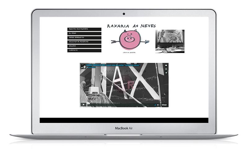 diseño web raxaria